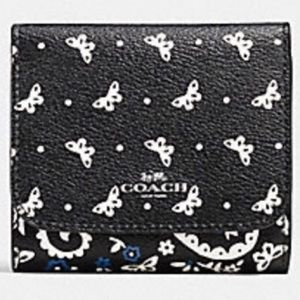 🔥Coach Butterfly Bandana Small Trifold Wallet 🦋